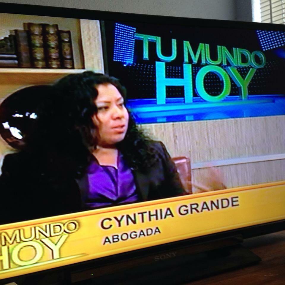 Cynthia Grande on Tu Mundo Hoy