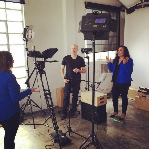 Cynthia Grande with Geffner Productions at video shoot